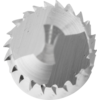 TC burrs for high-performance applications - PLAST, FVK and FVKS cuts for GRP/CRP - Cylindrical shape ZYA - Shank dia. of 6 mm with centre drill (ZBS) - ZYA 0625/6 FVK ZBS - PRODUKTBILD STIRNVERZAHNUNG