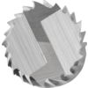 TC burrs for high-performance applications - PLAST, FVK and FVKS cuts for GRP/CRP - Cylindrical shape ZYA - Shank dia. of 6 mm with drill cut (BS) - ZYA 0625/6 FVKS BS - PRODUKTBILD STIRNVERZAHNUNG