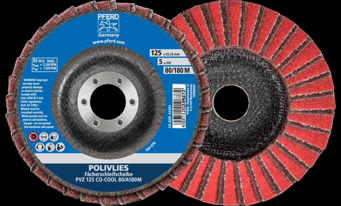 PFERD 45155 Mini Mounted Flap Wheel 1//8 Shank Pack of 10 3//4 Diameter x 3//8 Length 80 Grit Aluminum Oxide A 38100 Max RPM