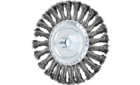 Threaded power brushes - Knot wheels - Standard twist - Carbon steel wire - 5'' Standard Twist Knot Wheel .020 CS Wire, 5/8-11 Thread - Product image