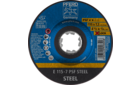 Grinding wheels - Universal Line PSF - PSF STEEL - Depressed-centre type E (shape 27) with X-LOCK - E 115-7 PSF STEEL/X-LOCK - Product image