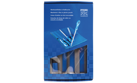 Files for the workshop - Machinist's files, DIN series - Machinist's files in plastic pouch WR, machinist's files in plastic pouch with cardboard box WRU - 532 WRU 200 - Product image