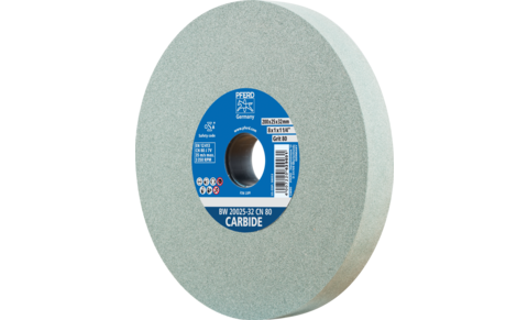 Bench grinding wheels - UNIVERSAL, HSS, CARBIDE - CARBIDE type - Silicon carbide (CN) - BW 20025-32 CN 120 CARBIDE - Product image