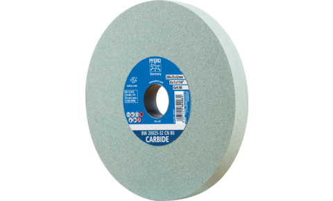 Bench grinding wheels - UNIVERSAL, HSS, CARBIDE - CARBIDE type - Silicon carbide (CN) - BW 20025-32 CN 80 CARBIDE - Product image