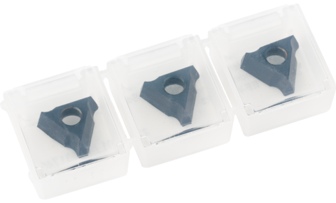 Milling tools with cutting inserts - EDGE FINISH system for work on edges - Cutting insert set with 3 mm radius, cutting insert set with chamfer - Cutting insert set with 3 mm radius - Cutting insert set with 3 mm radius - Product image