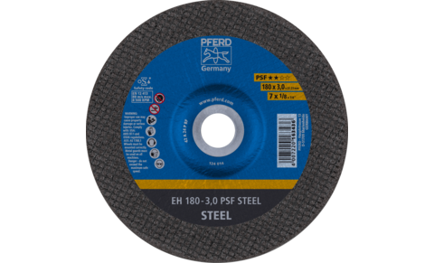 Cut-off wheels - Universal Line PSF - PSF STEEL - Depressed-centre type EH (shape 42) - EH 180-3,0 PSF STEEL - Product image