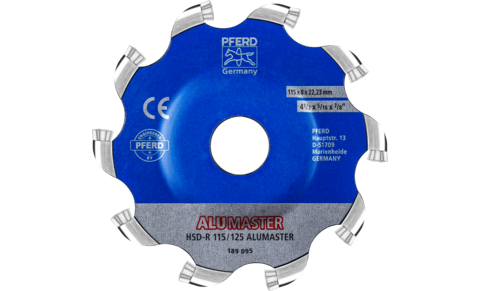Fraises à chanfreiner à plaquettes - High Speed Disc ALUMASTER - High Speed Disc ALUMASTER HSD-R - HSD-R 115/125 ALUMASTER - PRODUKTBILD HINTEN