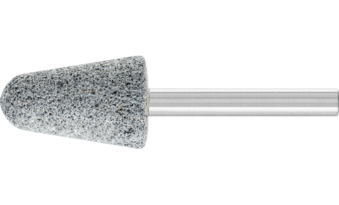 Mounted points - For edge grinding on grey and nodular cast iron - CAST EDGE, conical with radius end type - Shank dia. 6 x 40 mm [Sd x L2] - KE 2032 6 CU 30 R5V CAST EDGE - Product image