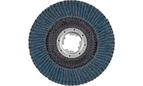 POLIFAN flap discs - Special Line SGP - Z SGP CURVE STEELOX - Radial type PFR with X-LOCK - PFR 115-L Z 40 SGP CURVE STEELOX/X-LOCK - PRODUKTBILD HINTEN