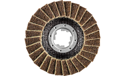 Non-woven tools - POLIVLIES grinding discs - Flap discs PVL - PVL 115-X-LOCK A 100 G - PRODUKTBILD VORNE
