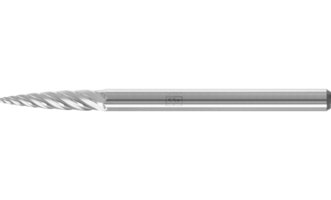 TC burrs for high-performance applications - INOX cut for stainless steel (INOX) - Pointed tree shape SPG - Shank dia. 3 mm - SPG 0313/3 INOX - Product image