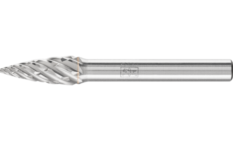 TC burrs for high-performance applications - STEEL cut for steel and cast steel - Pointed tree shape SPG - Shank dia. 6 mm - SPG 0820/6 STEEL - Product image