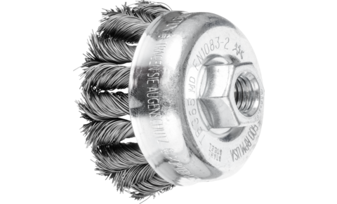 Threaded cup brushes - knotted - TBG CT, COMBITWIST - Steel wire (ST) – COMBITWIST type - POS TBG 65/M14 CT ST 0,35 - Product image