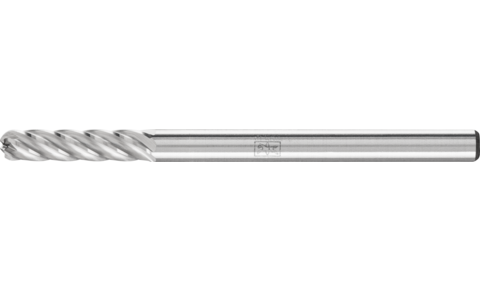 TC burrs for high-performance applications - INOX cut for stainless steel (INOX) - Cylindrical shape with radius end WRC - Shank dia. 3 mm - WRC 0313/3 INOX - Product image