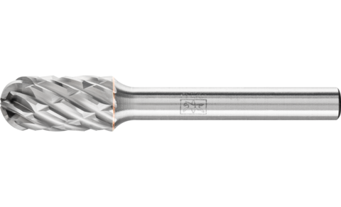 TC burrs for high-performance applications - STEEL cut for steel and cast steel - Cylindrical shape with radius end WRC - Shank dia. 6 mm - WRC 1020/6 STEEL - Product image