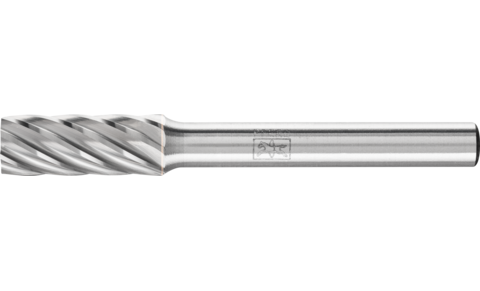 TC burrs for high-performance applications - INOX cut for stainless steel (INOX) - Cylindrical shape ZYA without end cut - Shank dia. 6 mm - Shank dia. 6 mm - Product image
