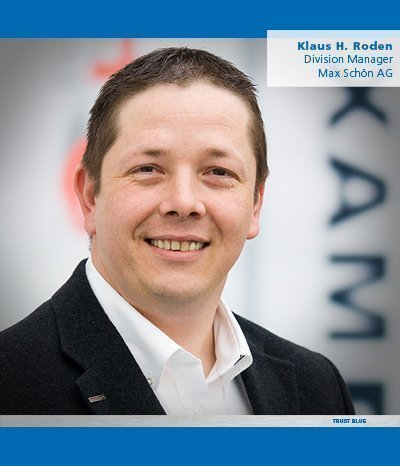 "Klaus H. Roden: ""I trust Blue because we are convinced by the high quality of the products. With PFERD products, we offer our customers efficient solutions and, above all, added value in many different product fields!"""