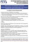 Recomendaciones de seguridad de la FEPA - Cintas abrasivas