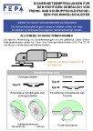 FEPA-Sicherheitsempfehlungen - Trenn- und Schruppschleifscheiben