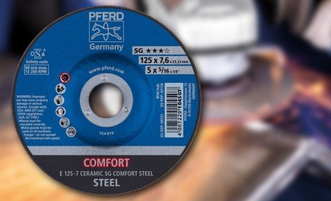 New PFERD reinforced grinding wheel